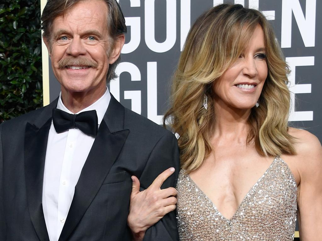 William H. Macy and Felicity Huffman. Picture: Frazer Harrison/Getty Images
