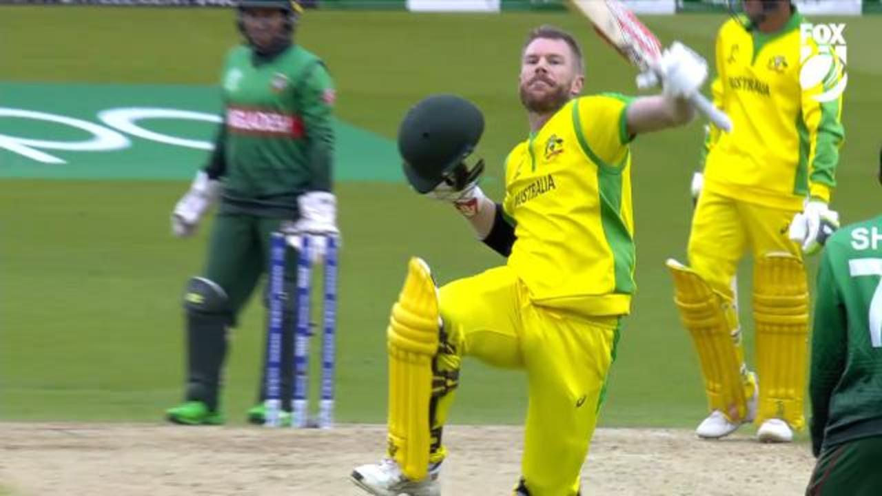 David Warner dominates Bangladesh