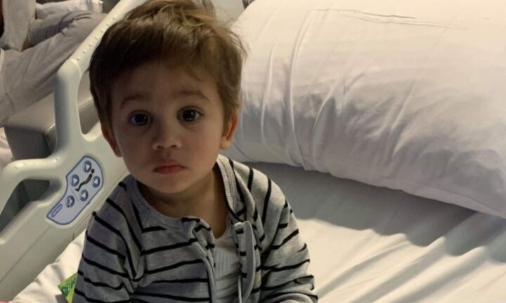 Mum's warning after toddler injured by Kmart lamp