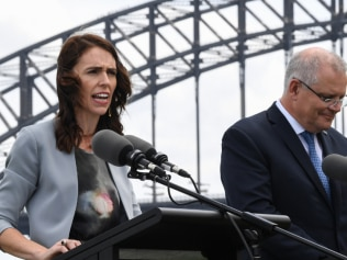Jacinda Arden took a swipe at ScoMo. Image: Getty