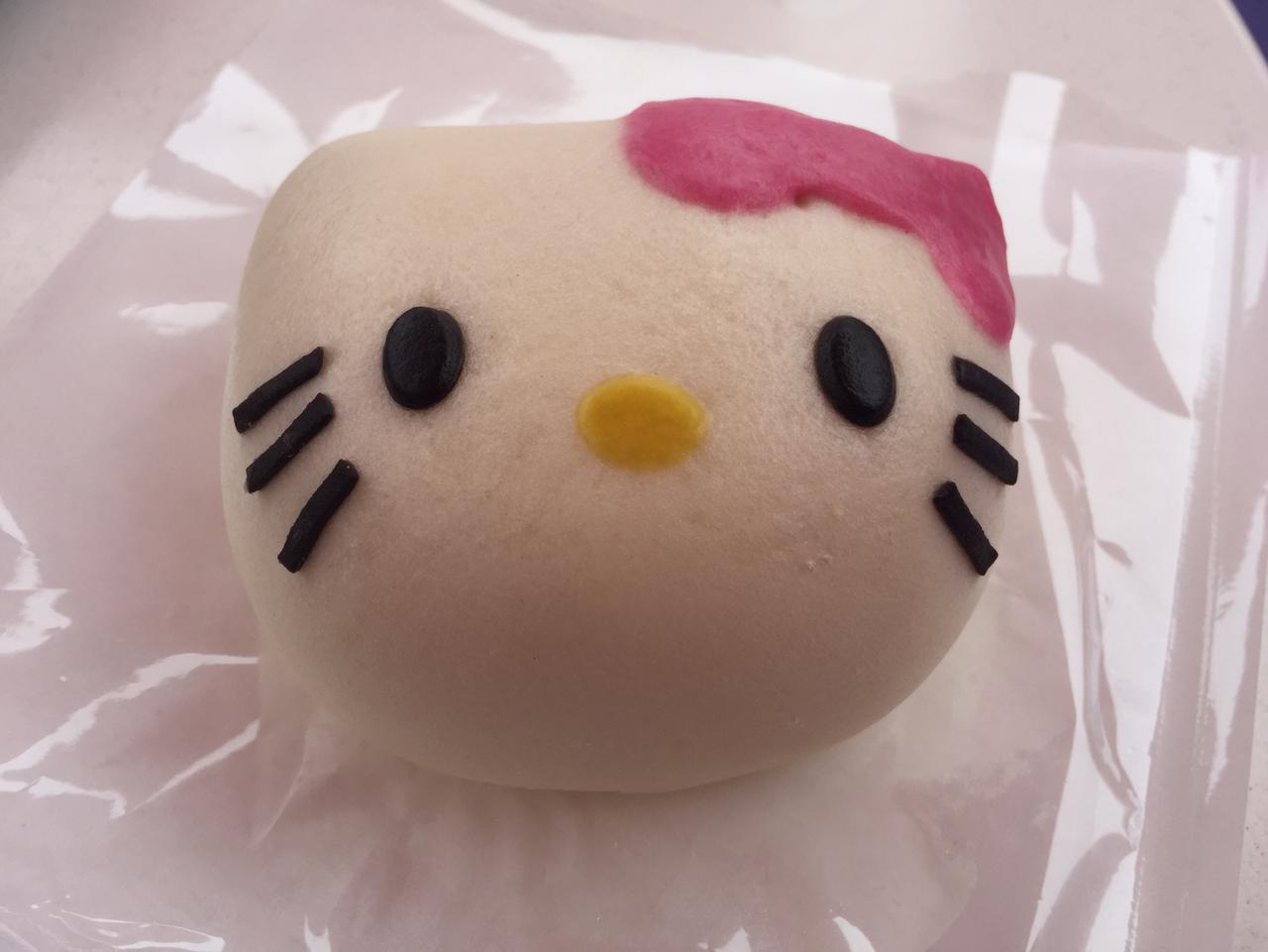 SUNDAY ESCAPE. JAPAN FOR KIDS. ELISSA HUNT. Hello Kitty bun. Picture: Elissa Hunt