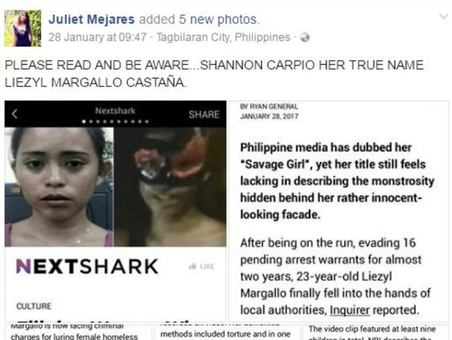 One of the people Margallo fooled in Cebu City posted a warning after finding out her real identity. Picture: Facebook.