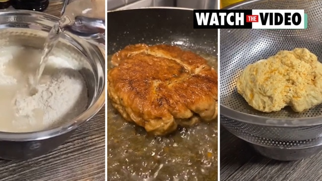 Viral TikTok demonstrates how to make 2-ingredient vegetarian 'chicken'.