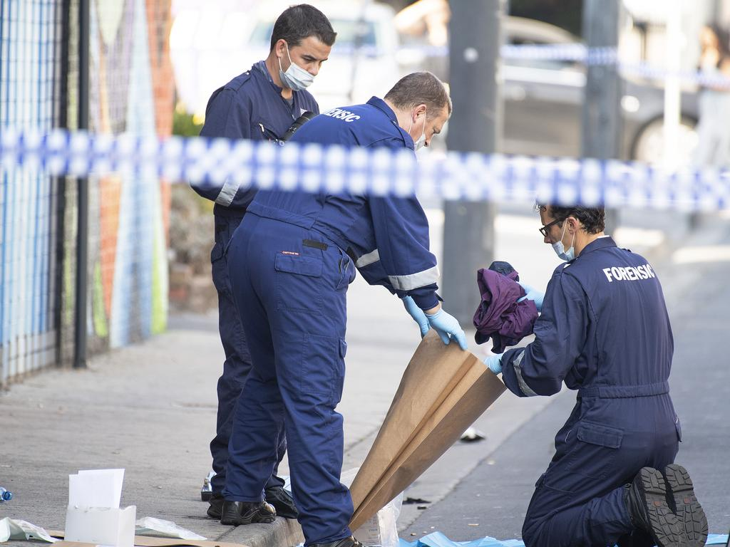 A security guard who suffered a gunshot wound to the face is believed to have died in hospital. Picture: Ellen Smith
