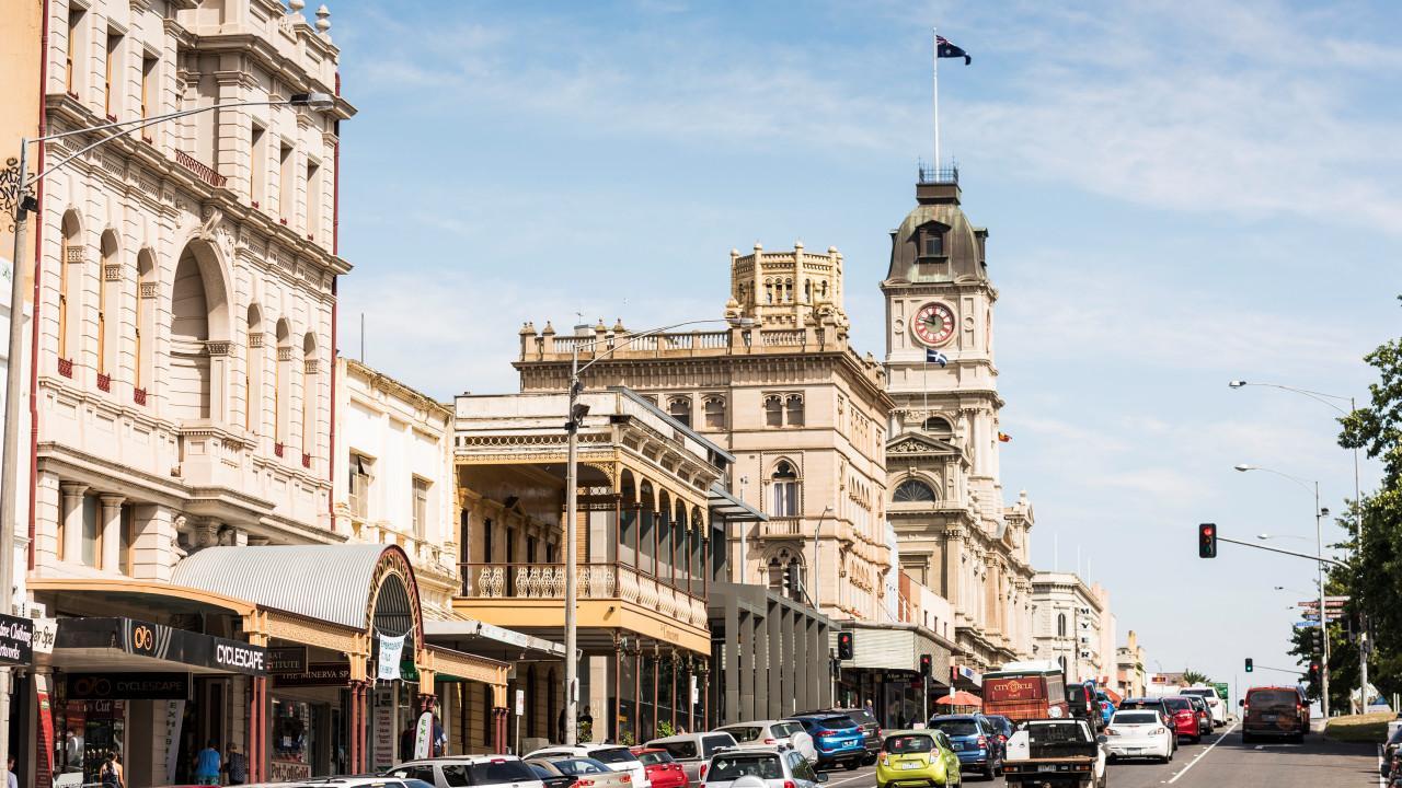 Lydiard Street, Ballarat's main street. Picture: Visit Victoria