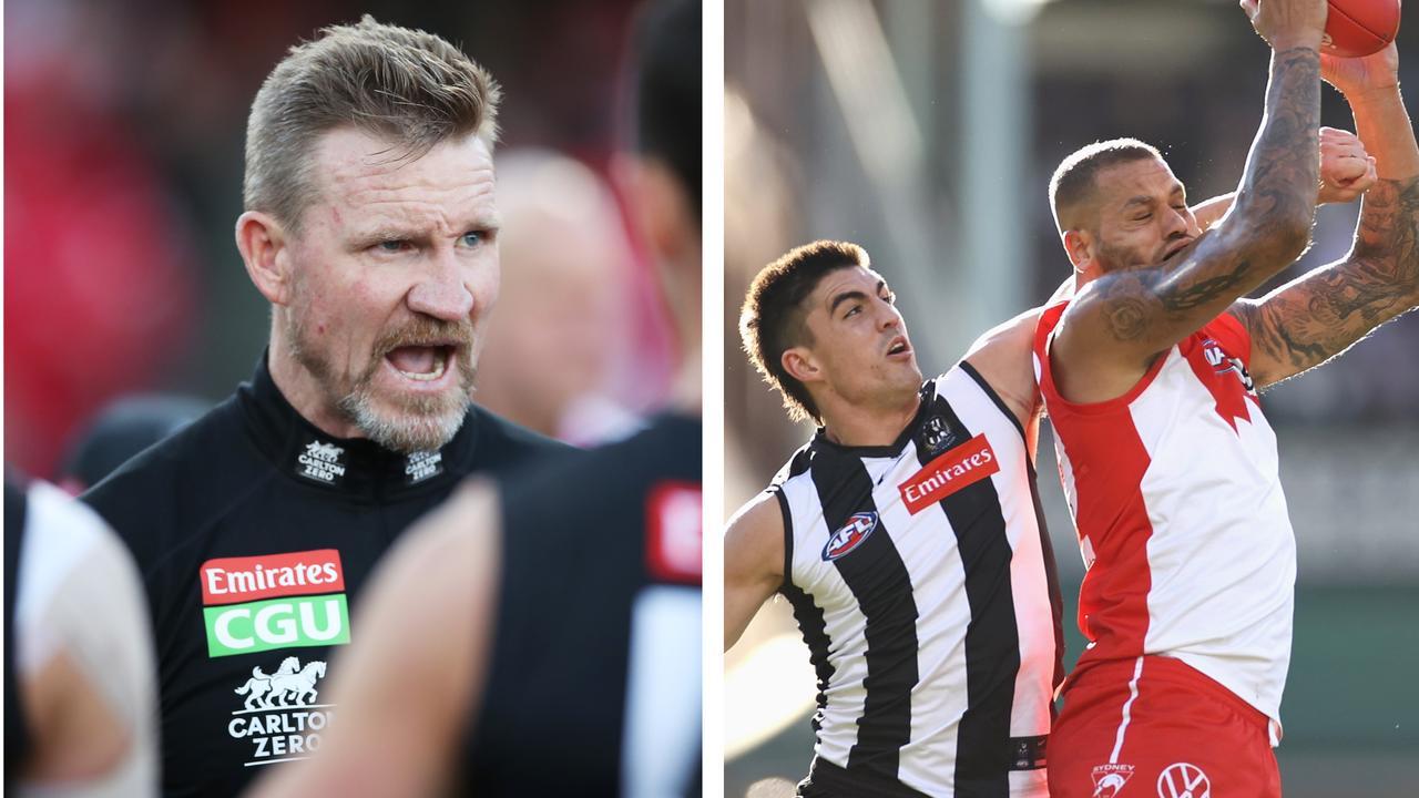 The 3-2-1: Nathan Buckley, Brayden Maynard and Lance Franklin.