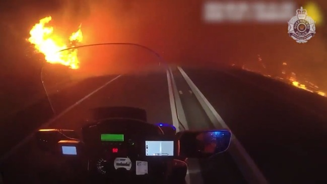 Incredible police vision from Sunshine Coast bushfire. Video: QPS