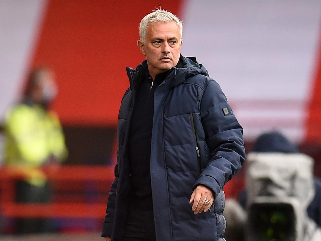 Jose Mourinho was filthy. (Photo by Oli SCARFF/AFP)