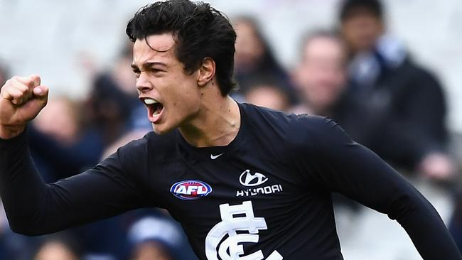 Jack Silvagni and the Blues are back at training. Picture: Getty Images