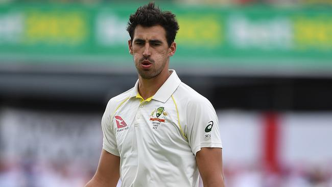 Australian pacemen Mitchell Starc is being monitored after he suffered a bruised heel.