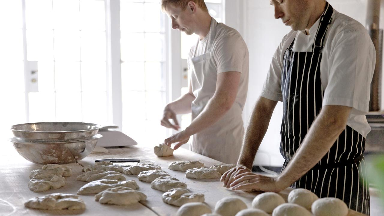Wake to the smell of fresh baking in the morning at Dairy Flat Lodge & Farm in Daylesford.
