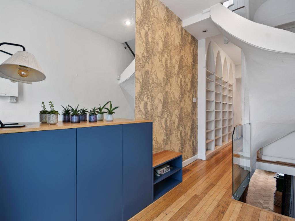 The hallway of the smallest house in London. Picture credit: Winkworth/TheSun