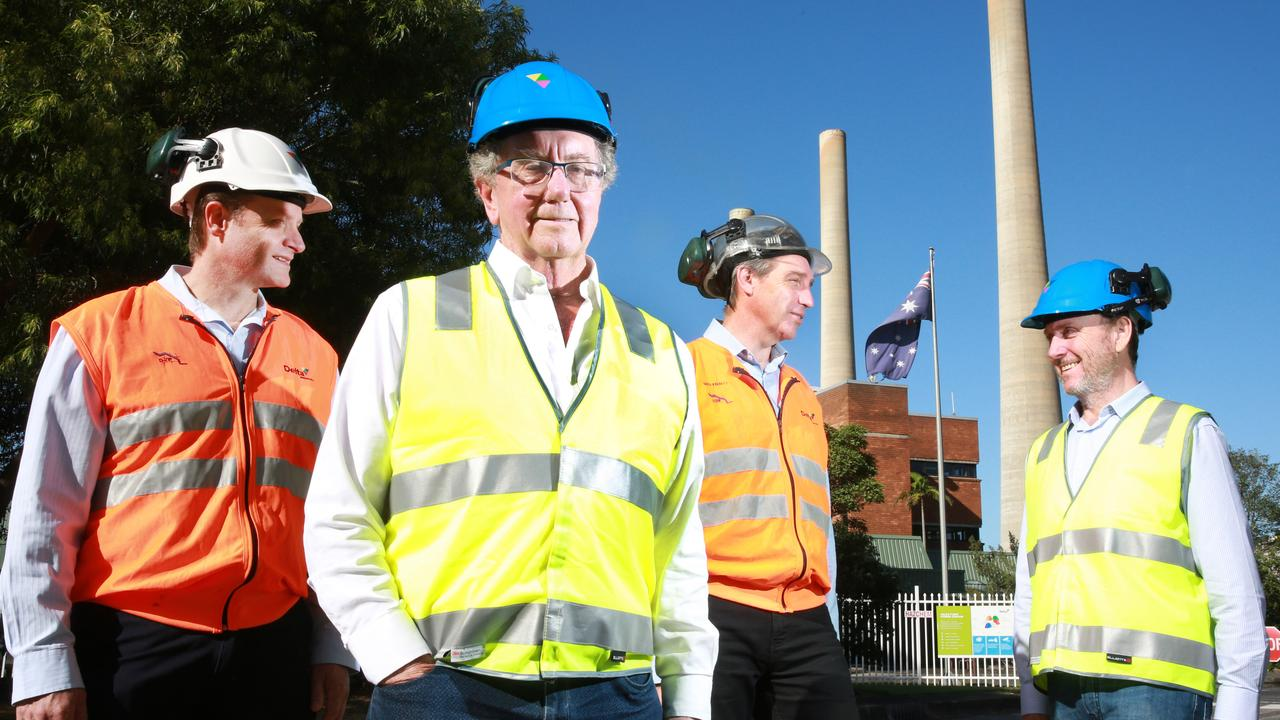 Trevor St Baker (second from left) is the owner of Vales Point and a former National Party candidate. Picture: Mark Scott