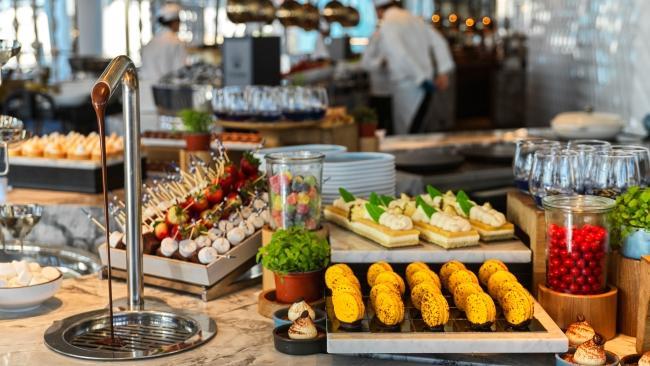 Buffet at Epicurean restaurant, Crown Sydney at Barangaroo.