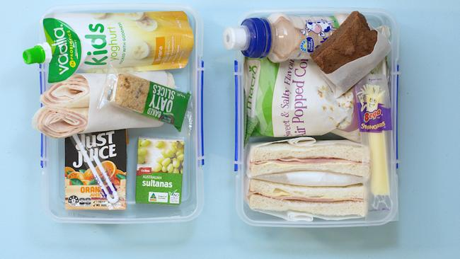 Take a look at these two lunch boxes and see which one you think you'd choose for your kids.