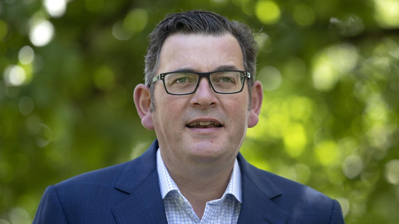 Victorian Premier Daniel Andrews gave a press confernce in Melbourne today. Picture: NCA NewsWire / David Geraghty