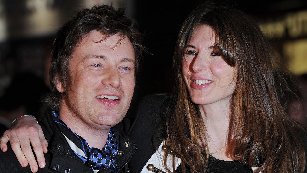 Jamie Oliver and his wife Jools. Picture: Ben Stansall