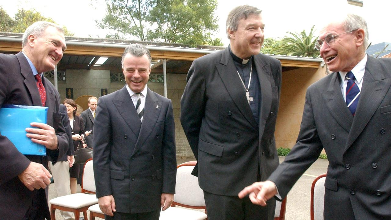 Pell had the ear of the powerful. In 2004 he is pictured with then Prime Minister John Howard and later Liberal leader Brendan Nelson. Picture: Erica Harrison