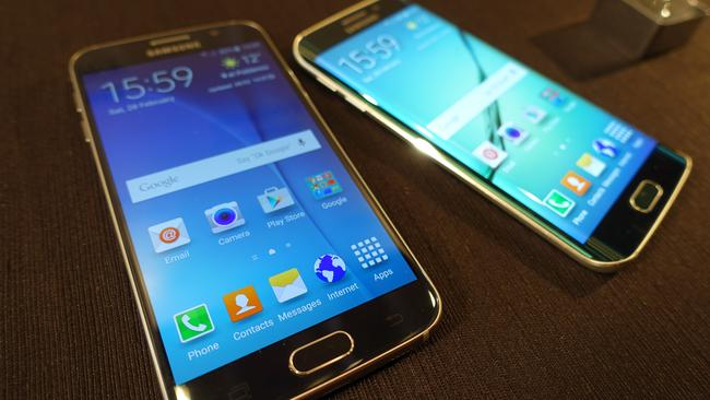 Redesign ... Samsung's Galaxy S6 and Galaxy S6 Edge smartphones offer a fresh look.