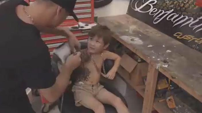 Tattoo artist inking sick children to give them a 'confidence boost'