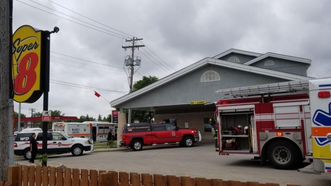 A carbon monoxide leak has occurred at a Super 8 motel in Winnipeg, Canada. Picture: CTV News