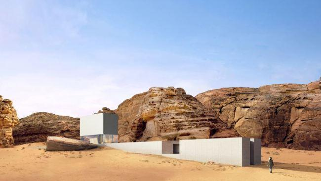 The design is inspired by the Nabataean tombs.