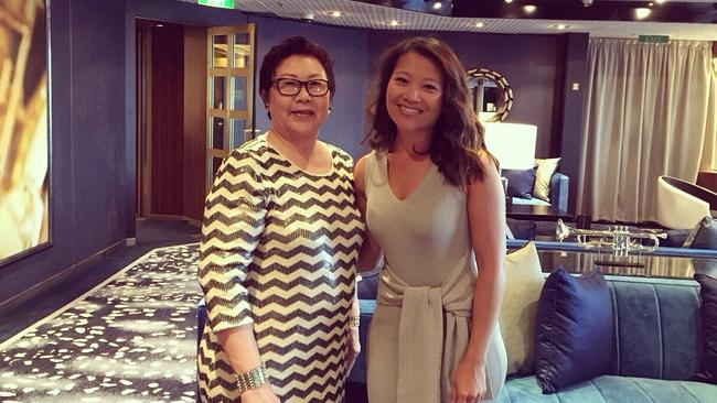 Tracy Vo onboard with her mum.