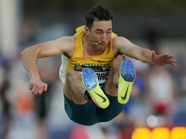 Aussie long jumper Fabrice Lapierre enjoyed the taste of his necklace. Pic: Michael Klein