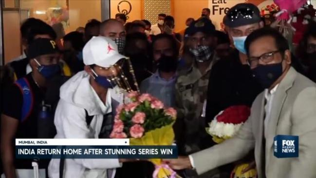 India return home after stunning series victory