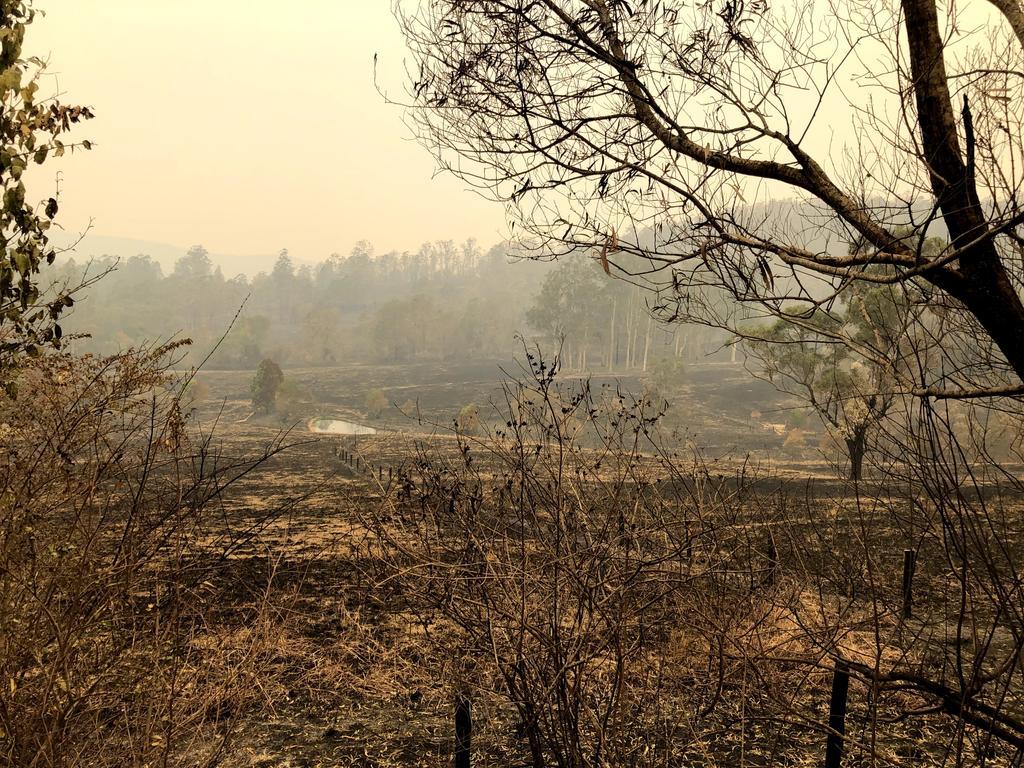 Scenes around Bobin in the wake of a devastating bushfire that tore through the region.