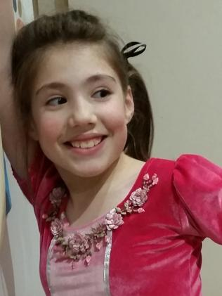 Thalia Hakin, 10, was killed in the Bourke St massacre. Her sister Maggie, 9, and mother Nathalie, were seriously injured.