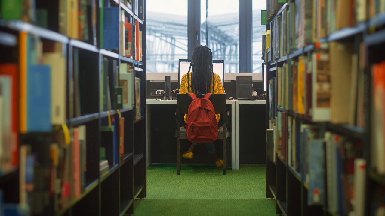 Avri now spends time at the library searching for her own child abuse images and tries to get them pulled down. Picture: iStock, posed by model.