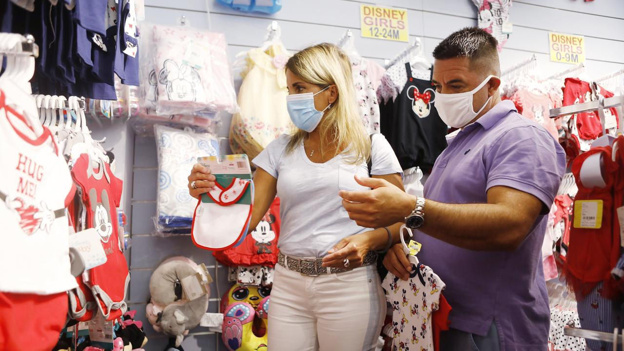 People have to wear masks if they wish to visit the theme parks. Picture: Octavio Jones/Getty Images/AFP