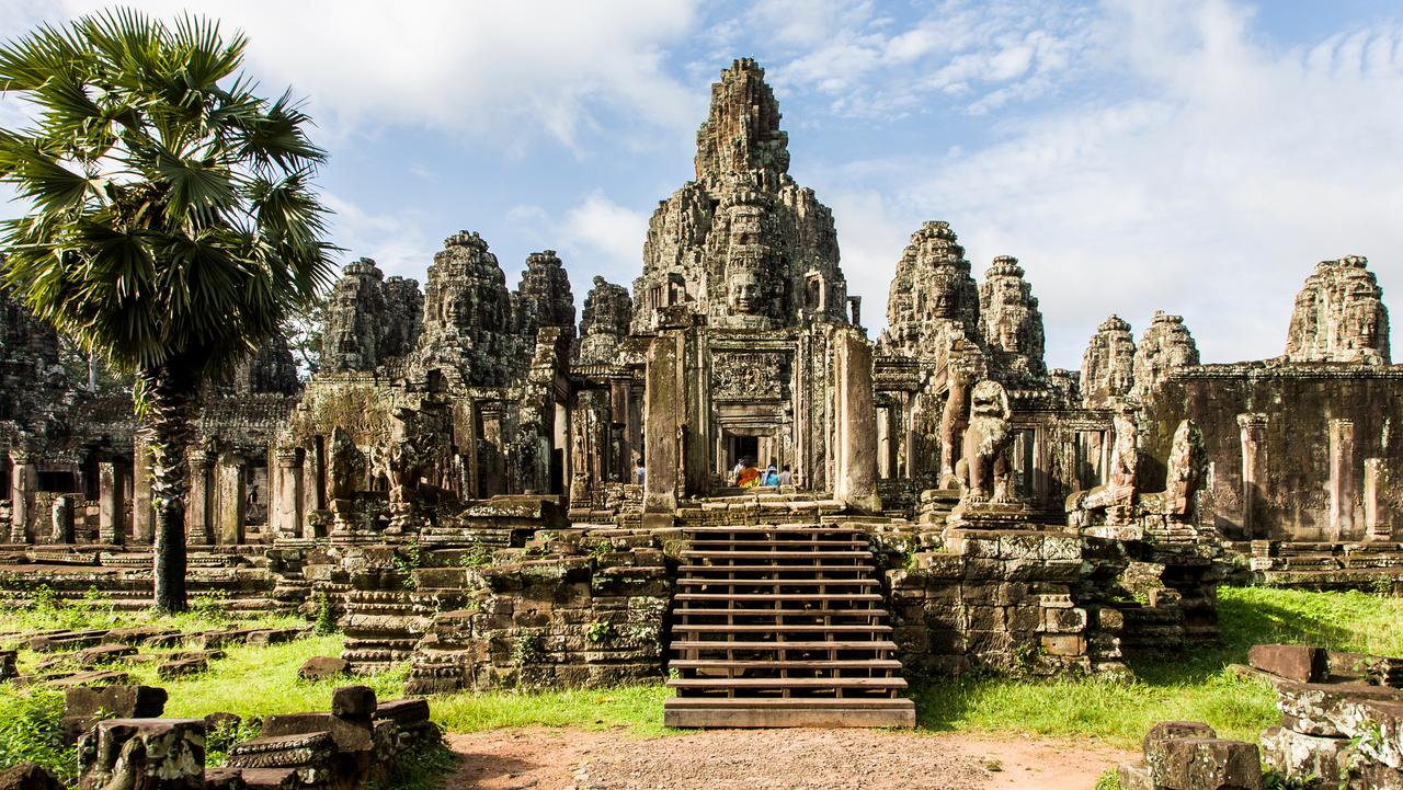 Angkor Wat temple in Siem Reap, Cambodia is the international favourite.