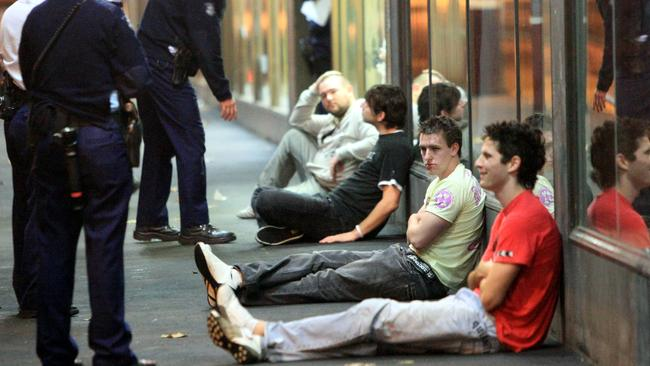 Melbourne's streets after the 2am lockout was trialled for the first busy weekend.