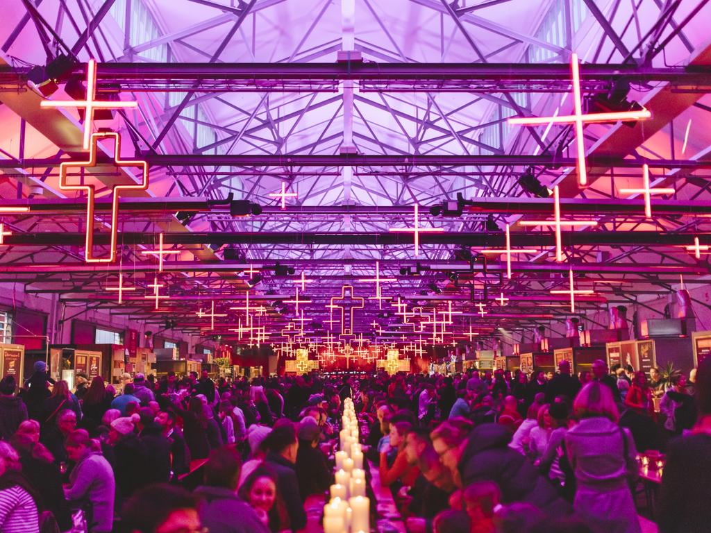The Winter Feast is always a highlight of Dark Mofo. Picture: Dark Mofo