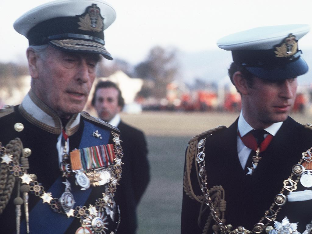 Prince Charles, right, was particularly close to and Lord Mountbatten, left. Picture: Anwar Hussein/Getty Images