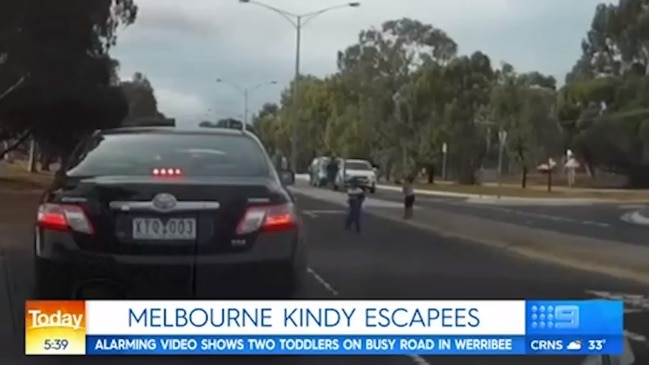 Crazy near-miss in Melbourne (9 News)