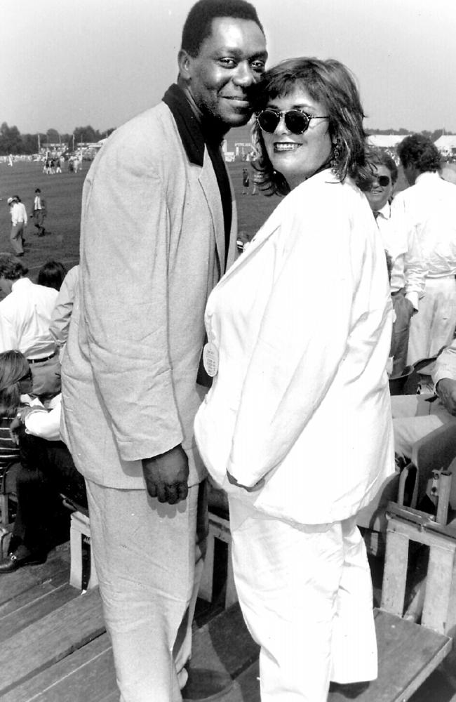 French with her ex-husband Lenny Henry back in 1989. The pair divorced in 2010. Picture: Alpha Agency