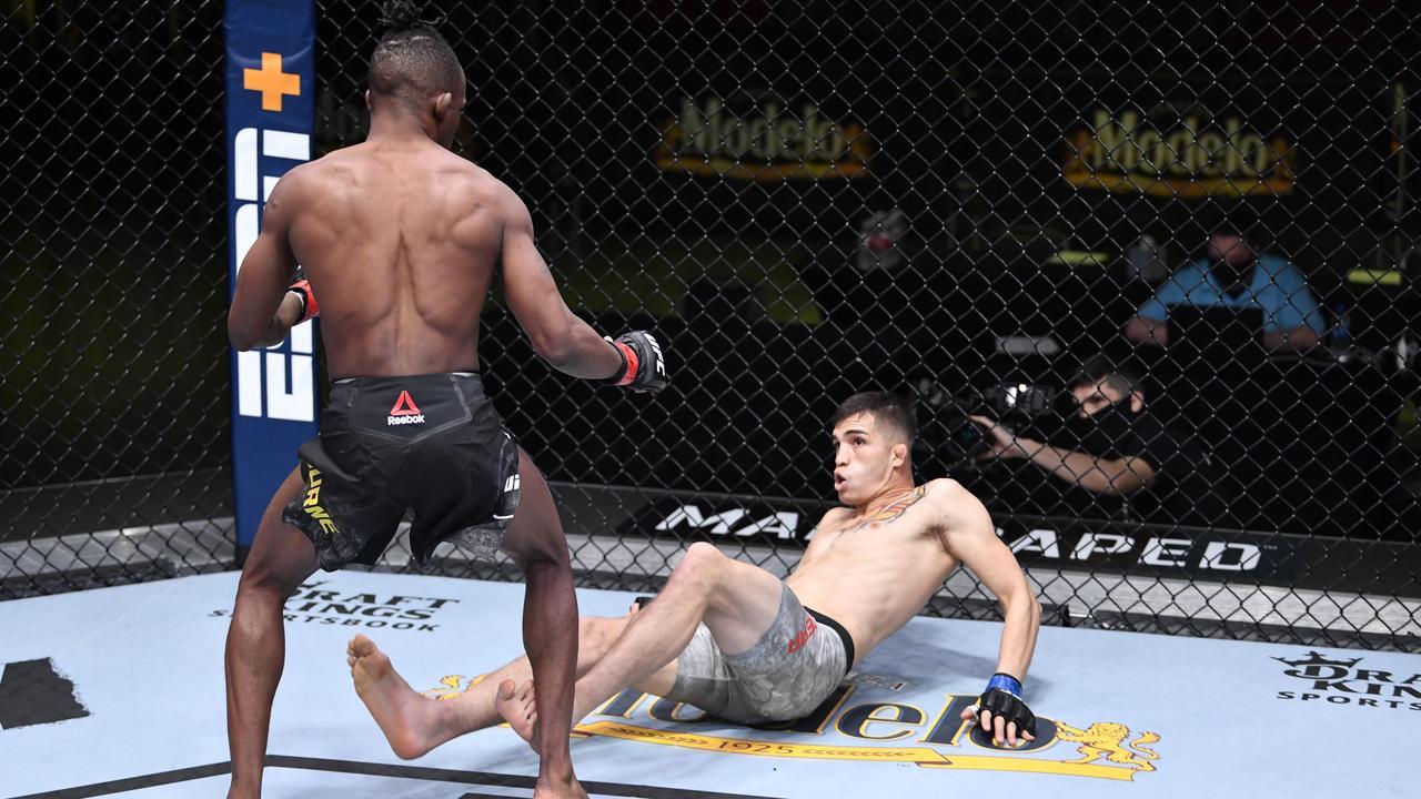 Ode Osbourne took Jerome Rivera down. Photo: Twitter, UFC.