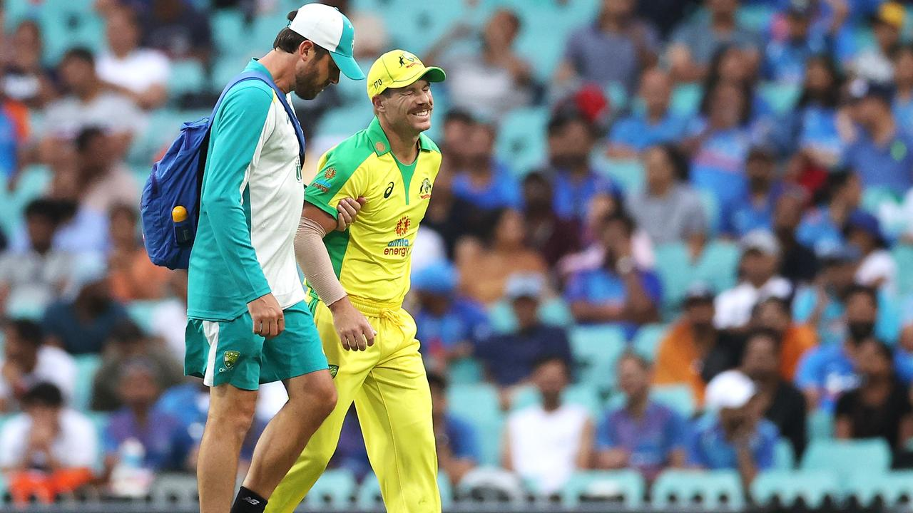 David Warner has been replaced for all remaining white ball games against India.