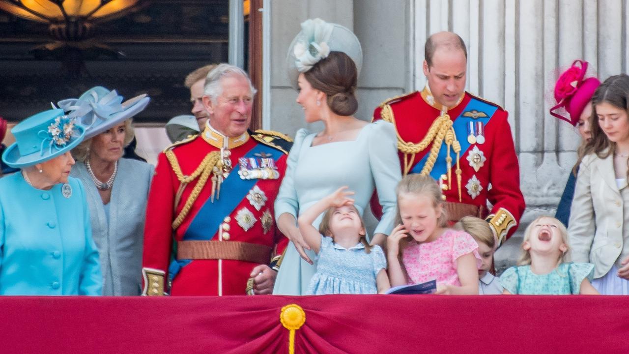 Trooping the Colour balcony  ceremony, London, UK - 9 Jun 2018