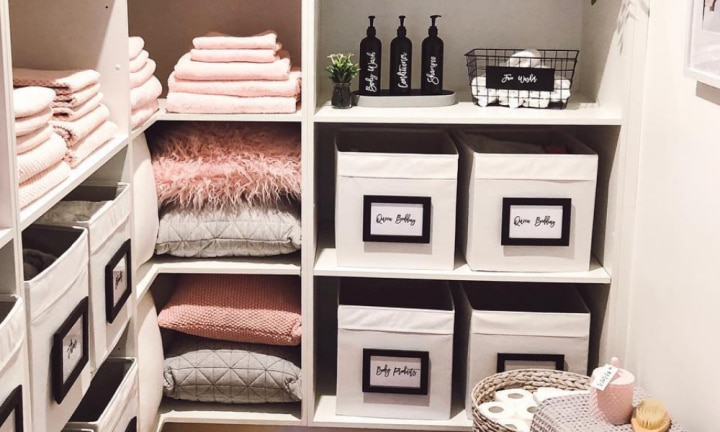 Linen closet makeover makes mum 'influencer'