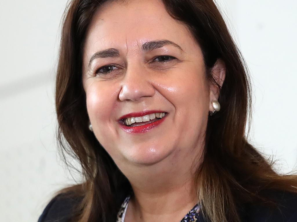 BRISBANE, AUSTRALIA - NewsWire Photos OCTOBER 1, 2021 Queensland Premier Annastacia Palaszczuk speaks at a press conference in Brisbane. Picture: NCA NewsWire / Jono Searle