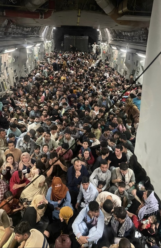 US air force flies out 640 people escaping Afghanistan on board Reach  871. Picture: Defenseone.com