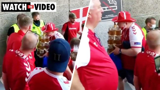 Denmark fan goes viral for legendary beer run