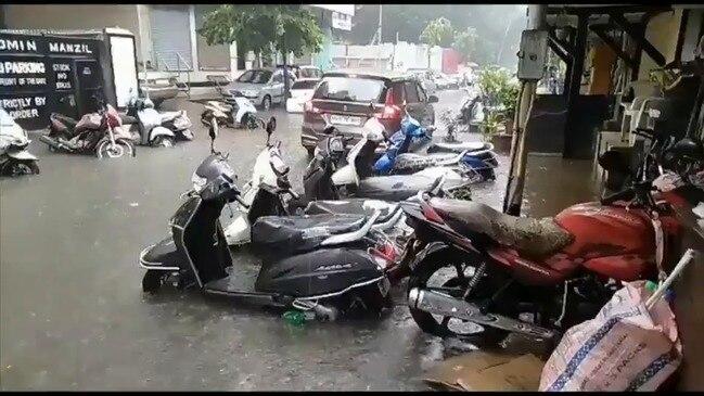 Monsoon Rains Cause Flooding in Mumbai