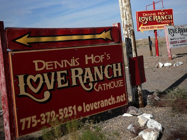 Infamous brothel ... the Love Ranch in Pahrump, Nevada, owned by Dennis Hof. Picture: Alex Wong/Getty Images)