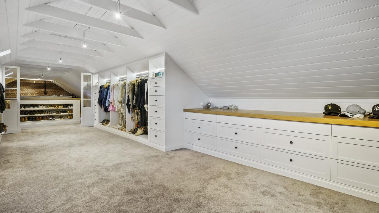 It has the luxury of a huge dressing room.