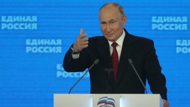 """Russian President Vladimir Putin says he is hopeful he will be able to name a successor who is """"worthy"""" of leading Russia. Picture: Getty"""